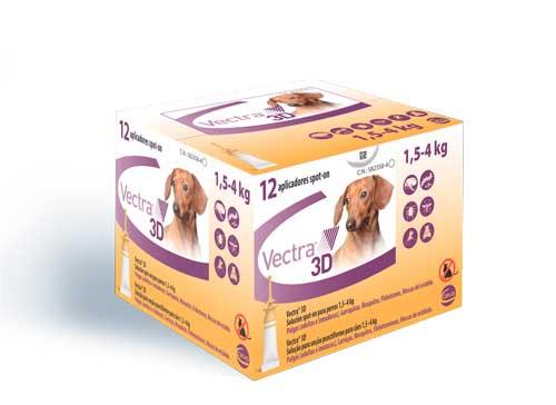 VECTRA 3D PERRO XS (1.5-4 KG) 12 PIP