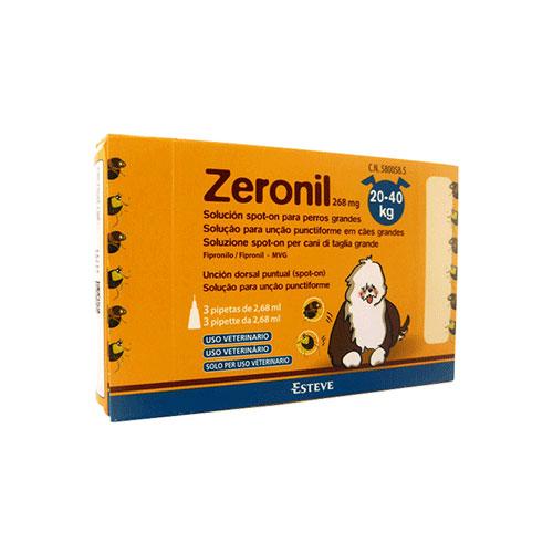 Zeronil 268mg 20-40kg PERRO GRANDE 3 Pipetas