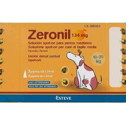 Zeronil 268mg 20-40kg PERRO MEDIANO 3 Pipetas