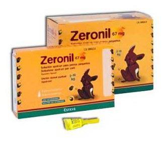 Zeronil 67mg 2-10kg PERRO PEQUEÑO 30 Pipetas
