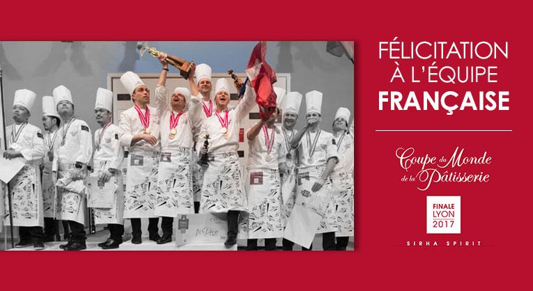 Félicitation à l'équipe française