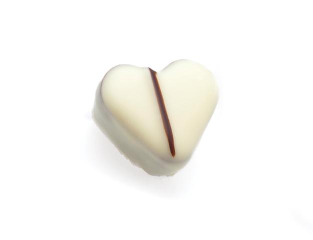 Bombón corazón blanco