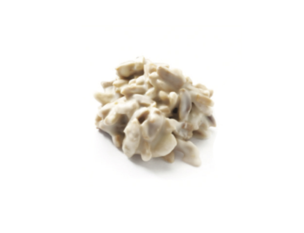 Bombón roca suiza blanca
