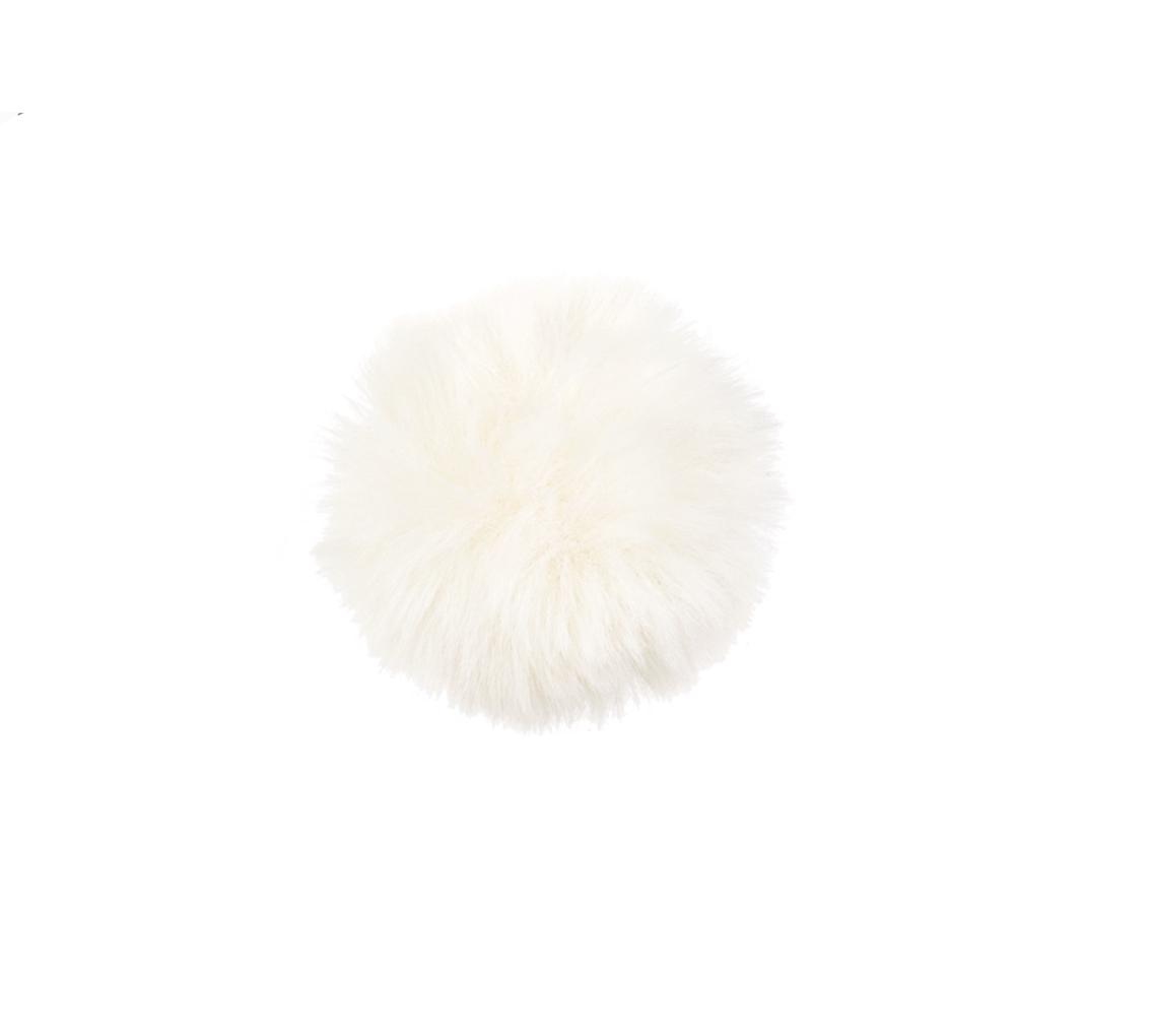 Pon pon blanco con pinza/caja 12 ud