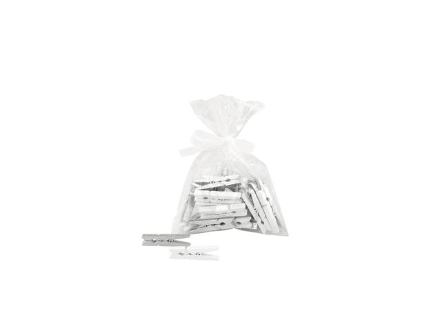 Pinzas plata/blanco
