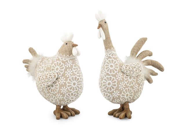 Coq et poule picorette