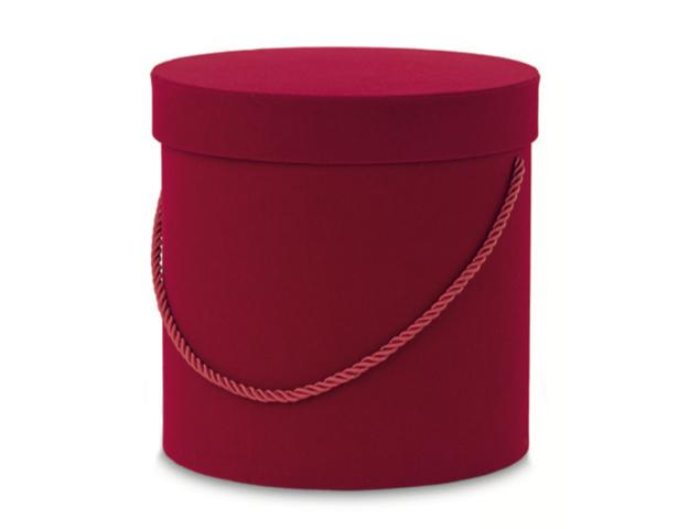 Caja redonda roja tercielopelo