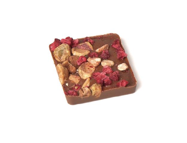 Carré gourmet frambuesa-pistacho
