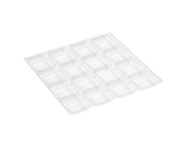 Alvéole transparent pour 16 chocolats