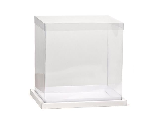 Boîte transparent avec socle.