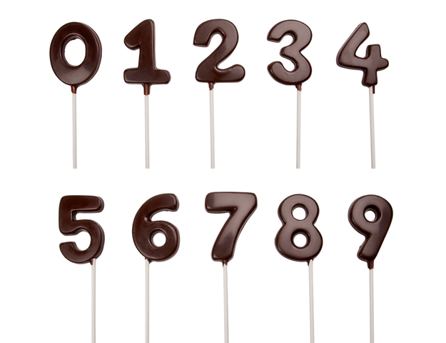 Kit numeros chocolate de 0 a 9