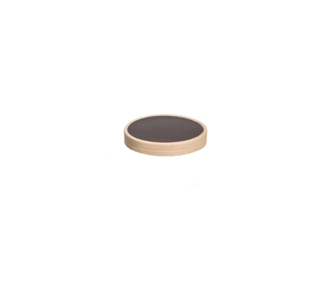 Couvercle pot à glace marron 150ml/cj 300u