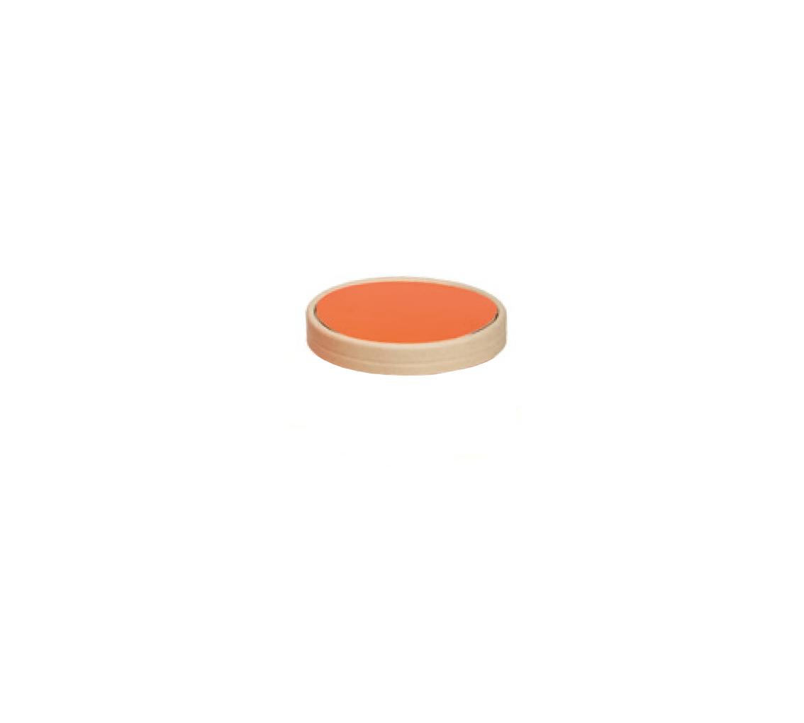 Couvercle pot à glace mandarin 150ml/cj 300u