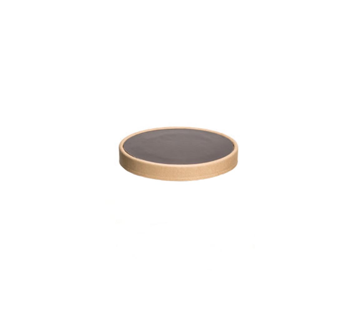 Couvercle pot à glace marron 400ml/cj 300u