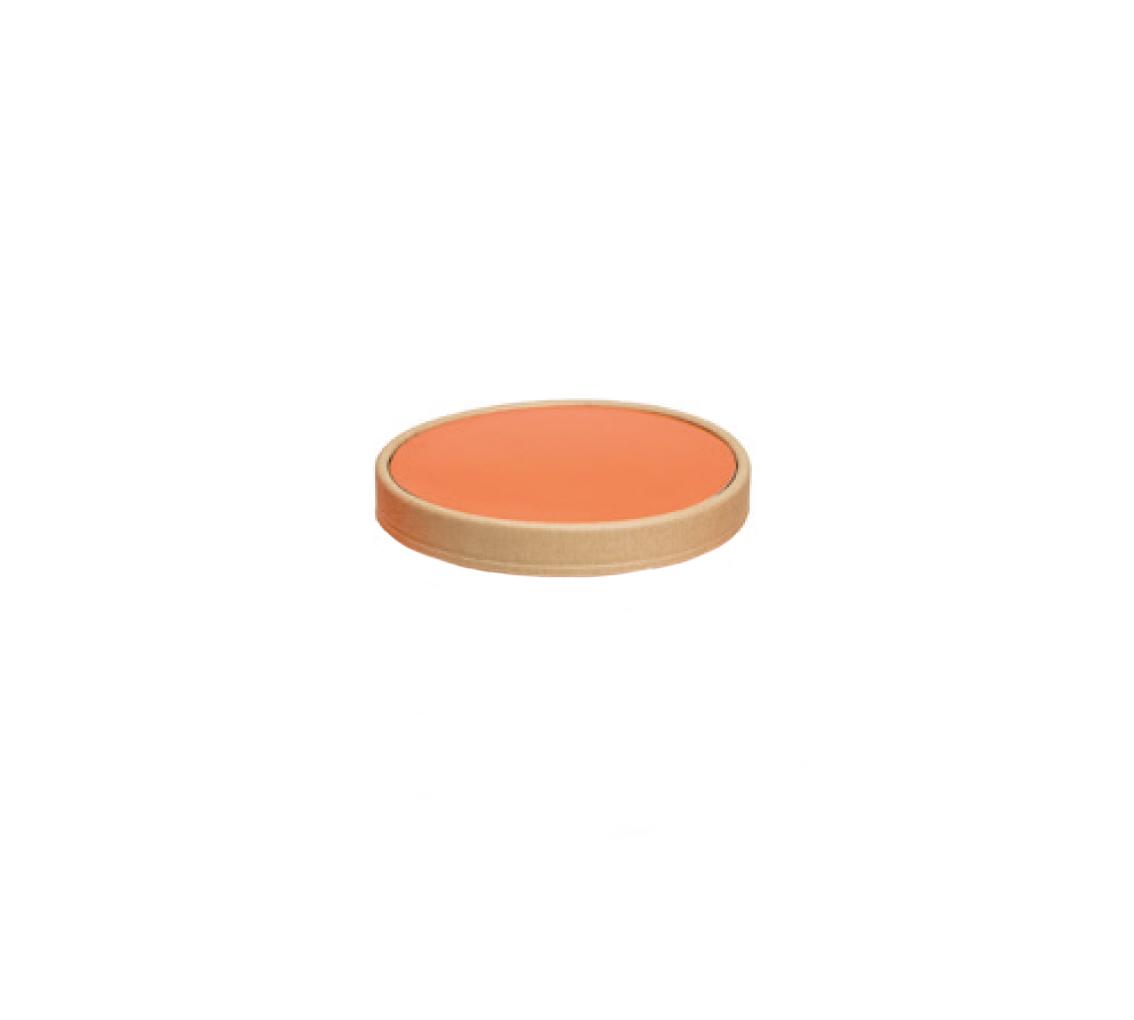 Couvercle pot à glace mandarin 400ml/cj 300u