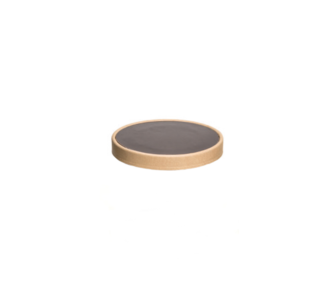 Couvercle pot à glace marron 700-900ml/cj 300u