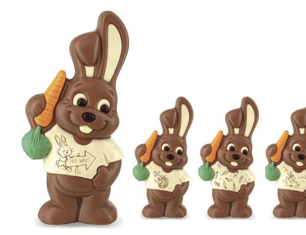 Figura choc conejo Luis  17cm / cj 6 un