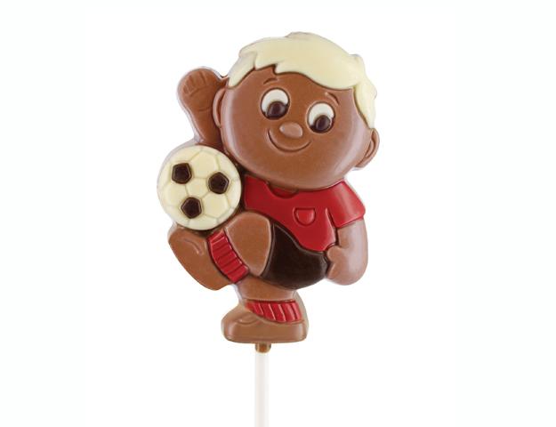 Piruleta chocolate fútbol