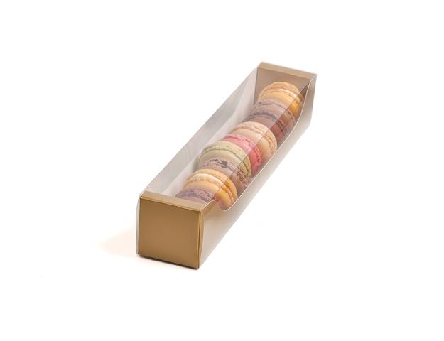 Caja 12 macarons Galaxy oro