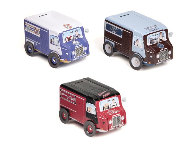 Boîte métal camión 3 assort./cj.12u