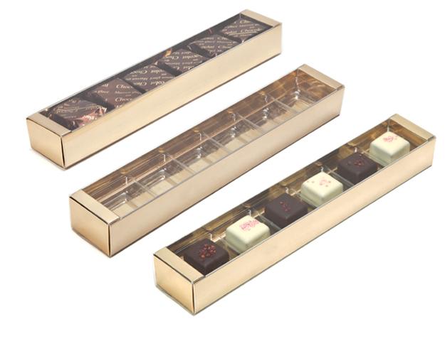 Boîte réglette fond carton gold metallic