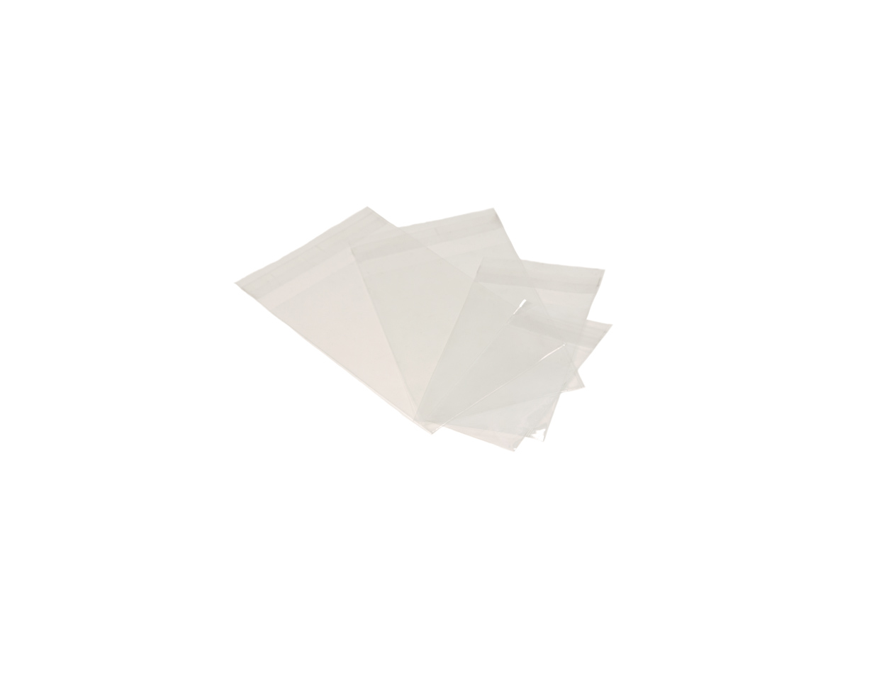 Bolsa transp. plana c/solapa adhes.120x120/cj.100u