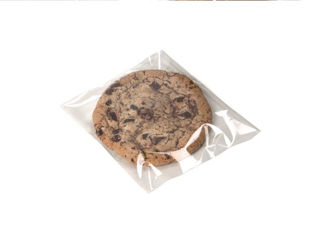 Sachet transparent plat avec rabat adhésif