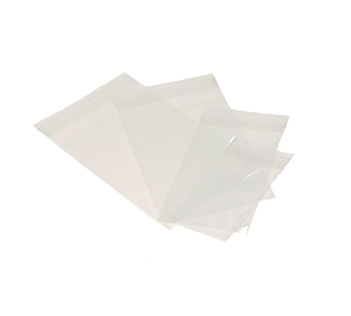 Sachet transparent av/rabat adhésif 77x280mm/pq.100u