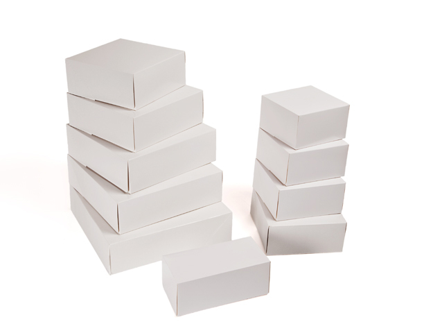 Caja pastelera blanca
