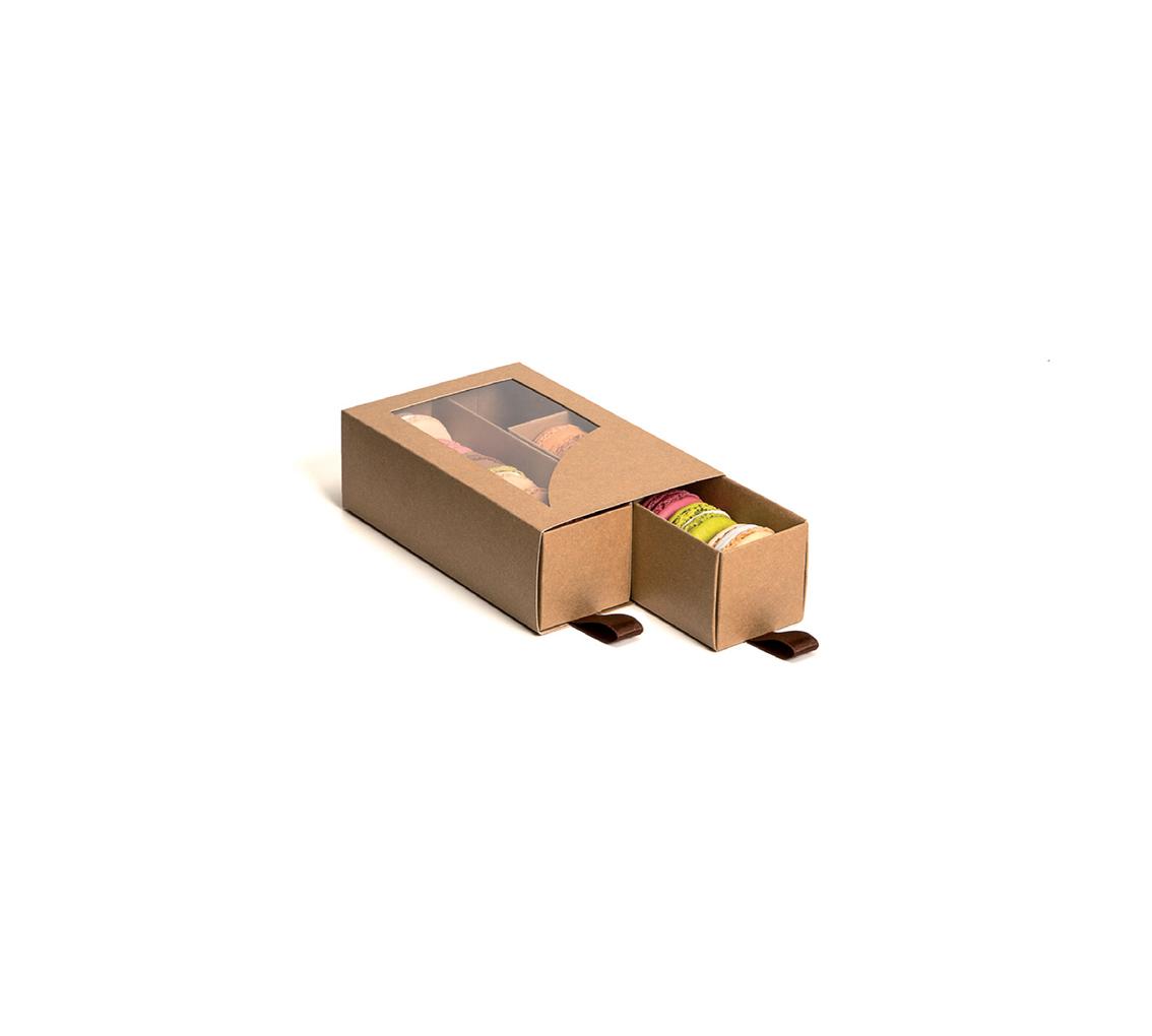 Fourreau bôite gliss 12 macarons 155x90x45/pq. 24u