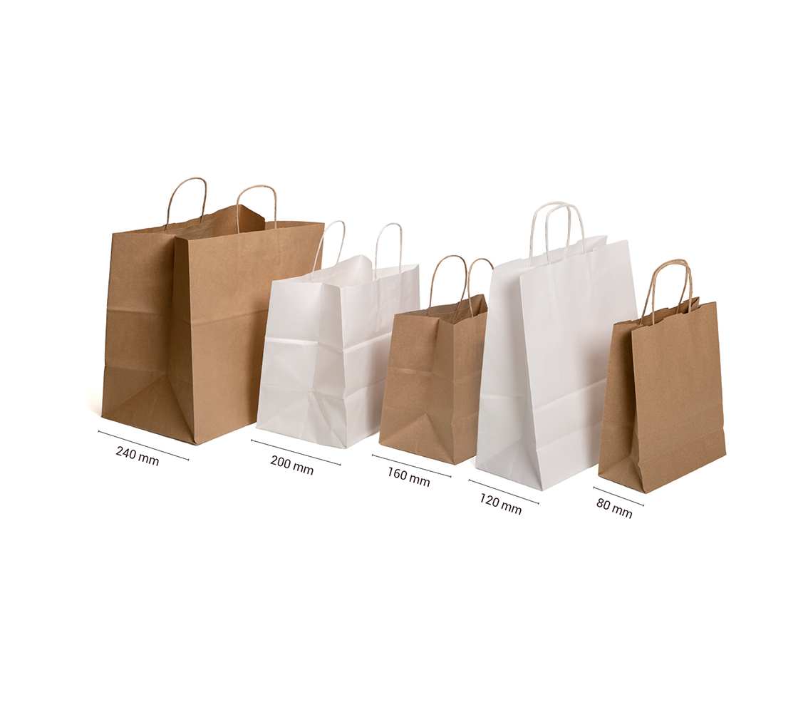 Bolsa papel blanco 28x16xh27 cm/cj.50u