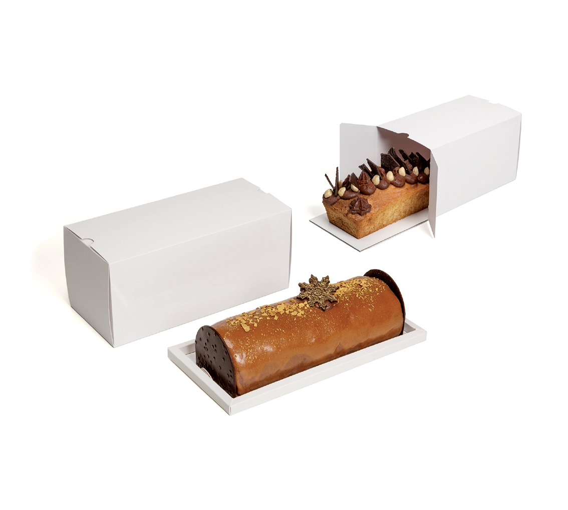 BoIte à gâteau blanche  250x110x110/pq.50u