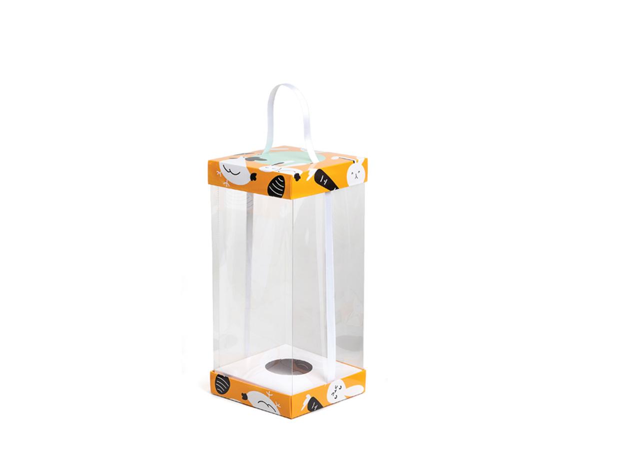 Boîte Vitrine Carrots 120x120x250mm/paq.24u