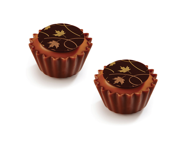 Cupcake hojas otoño