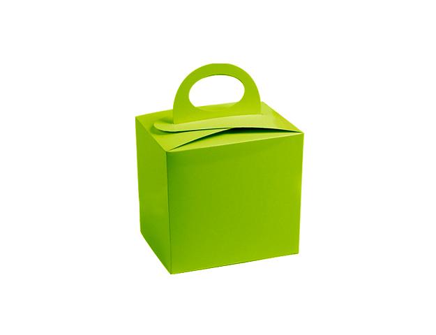 Caja verde c/asa s/ventana para molde/cj.24u