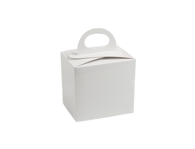 Caja blanca c/asa s/ventana para molde/cj.24u
