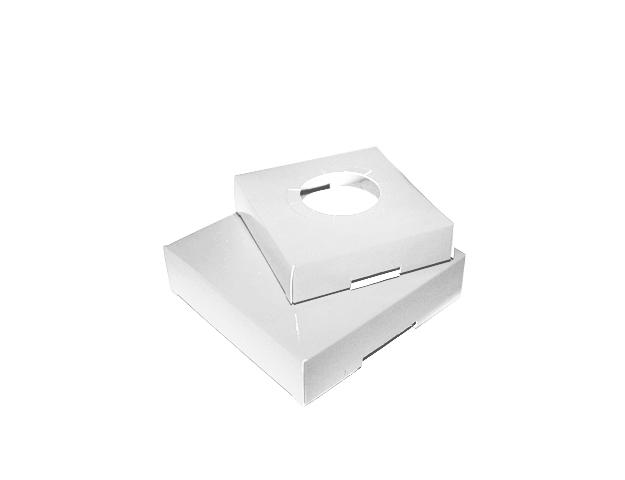 Socle blanc pour boîte pâques