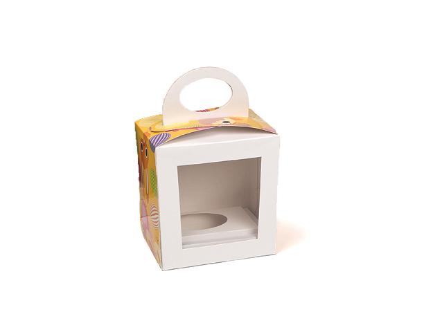 Boîte Pâques avec fenêtre et anse