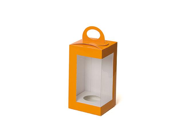 Boîte orange vertical