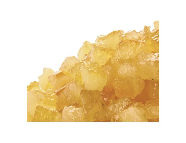 Cubos de limón escurridos