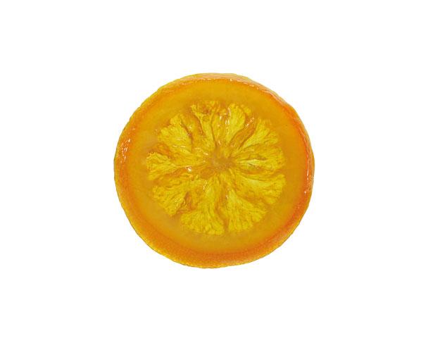 Rodajas de naranja escurridas