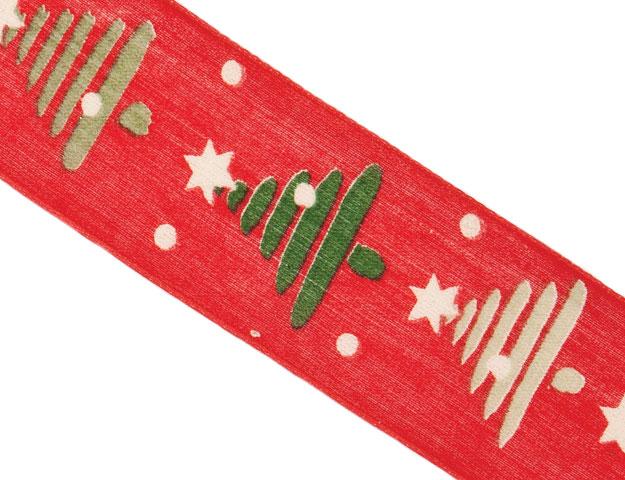 Cinta Navidad Roja 40mm - 20mt