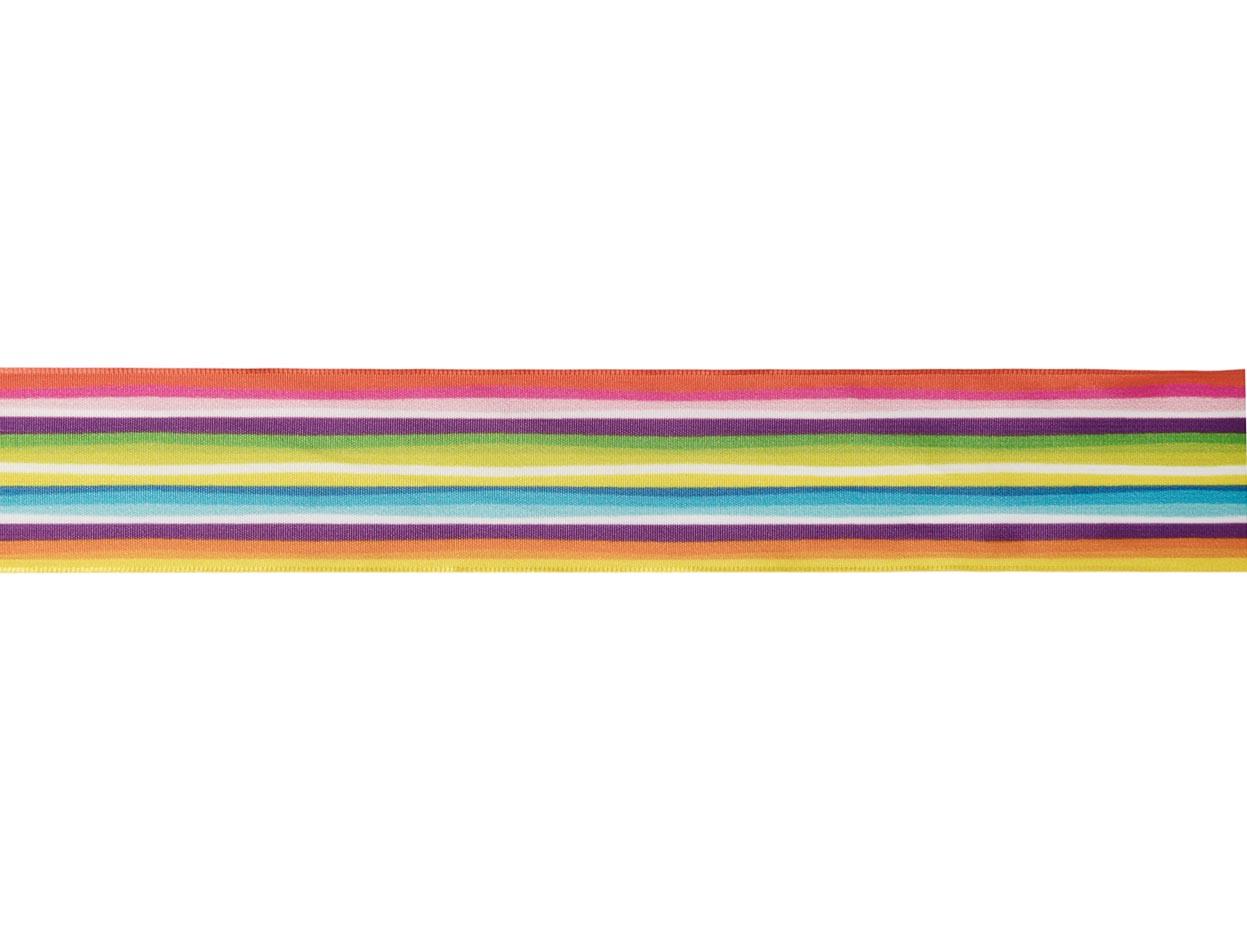 Cinta Arco Iris c/alambre 40mm 20m