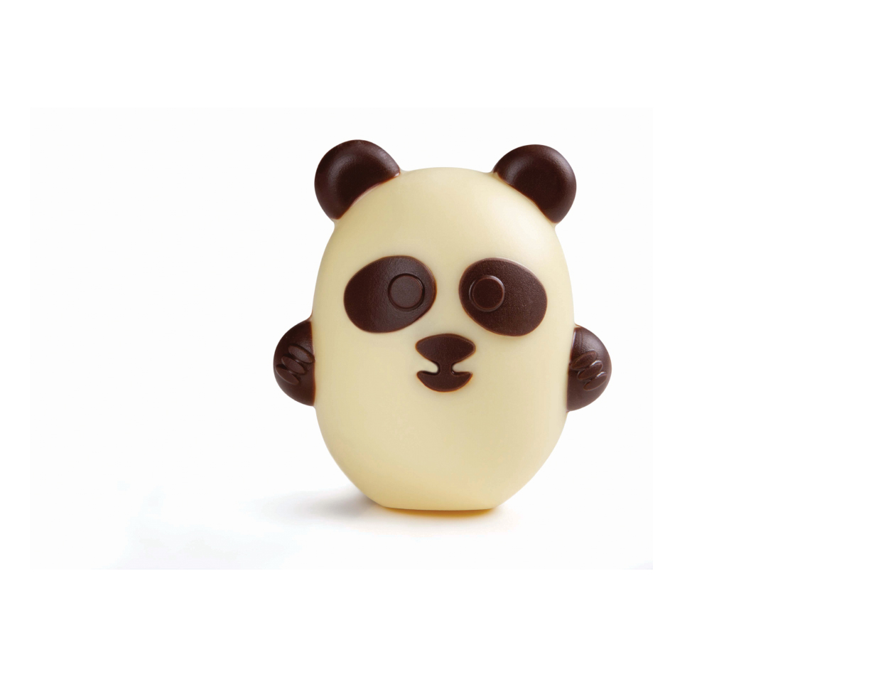 Fig choc pequeño panda  8 cm / cj 12 ud