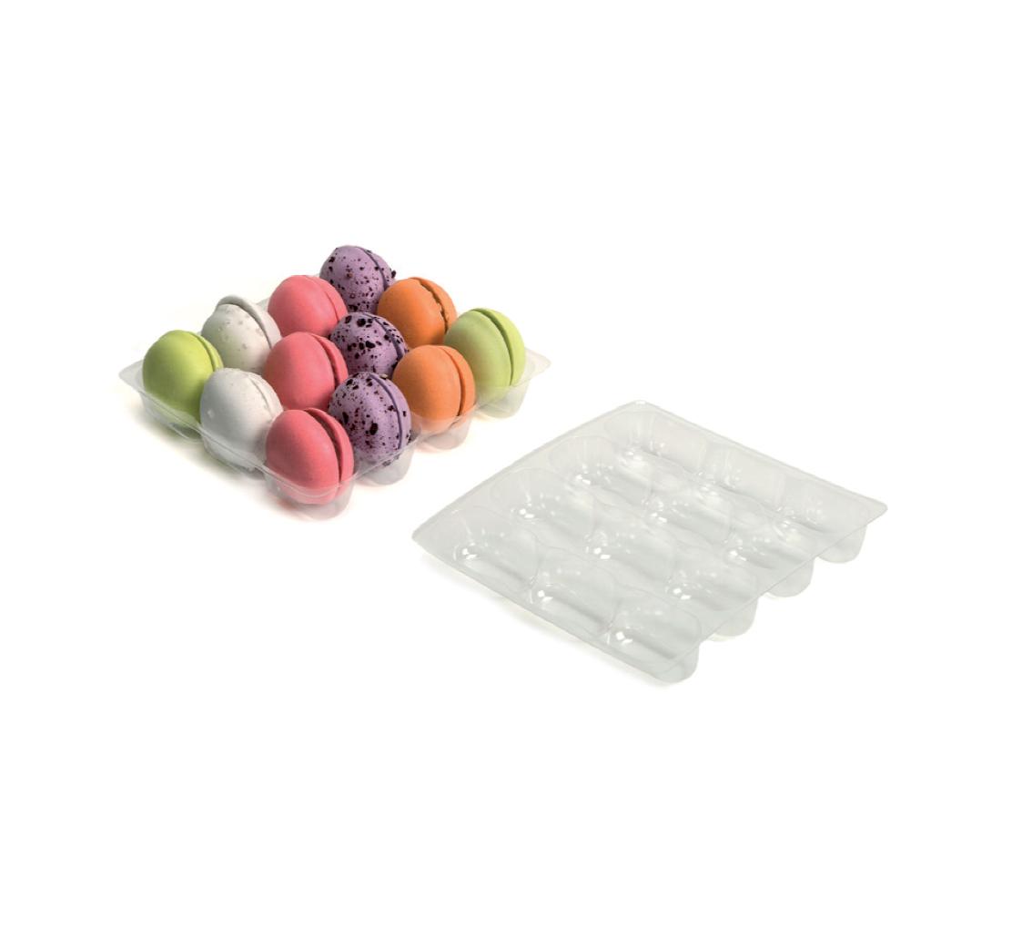 Alvéole pour 12 petits Macarons/pq. 36u