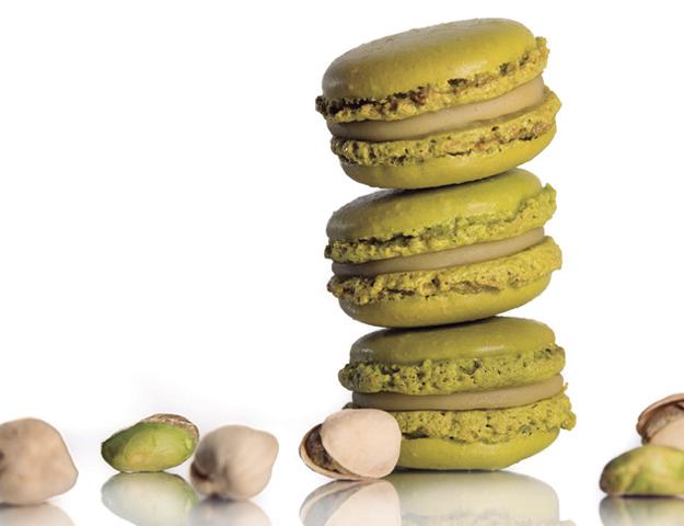 Macaron pistacho en alveolo 12 ud