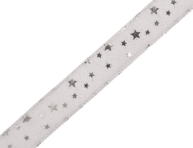 Cinta Orion c/alambre plata 40mm - 20mts