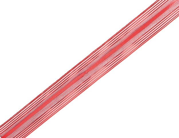 Cinta Astoria pompón rojo 25mm - 20mts