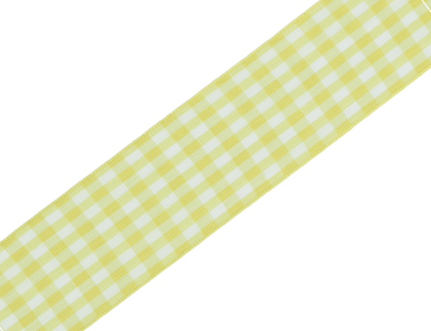 Ruban Vichy vert laitonné 40mm - 20mt