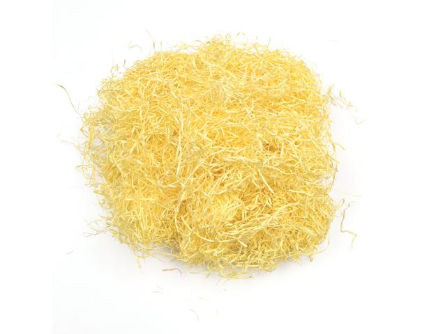 Paja de papel amarilla